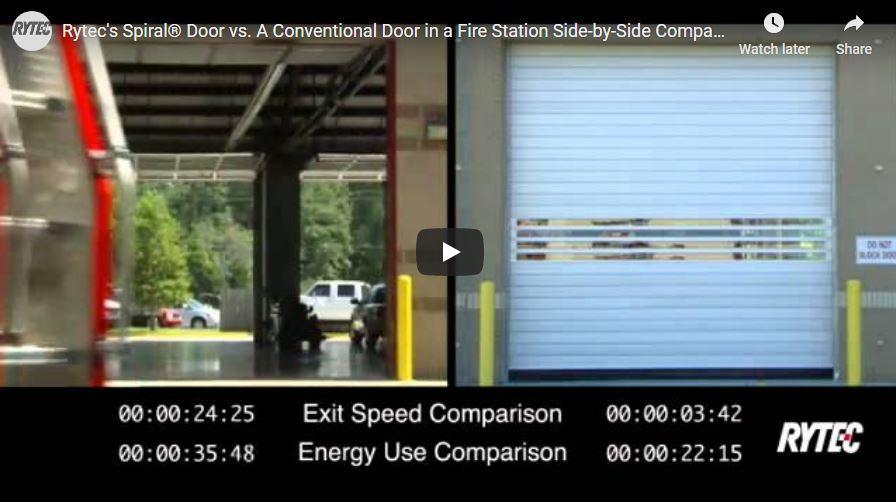Rytec Spiral Door vs. A Conventional Door